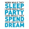 Work while they sleep - Men's Slim Fit T-Shirt