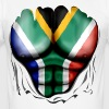 South Africa Flag Ripped Muscles, six pack, chest t-shirt - Men's Slim Fit T-Shirt