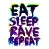 Eat Sleep Rave Repeat for White Shirts - Männer Slim Fit T-Shirt