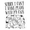 Sorry I Can't I Have Plans With My Cats - Miesten tyköistuva t-paita