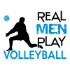 Real Men play Volleyball - T-shirt près du corps Homme