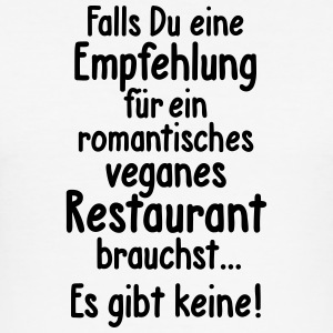 Veganes Restaurant Vegetarier essen Romantik Flirt - Männer Slim Fit T-Shirt