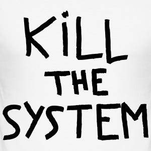 kill the system - Tee shirt près du corps Homme