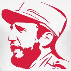 Fidel Castro - Slim Fit T-skjorte for menn