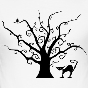 Creepy Tree - Men's Slim Fit T-Shirt