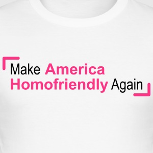 opnieuw te maken amerika gay friendly - slim fit T-shirt
