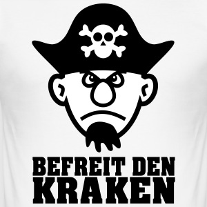 Befri Kraken! - Herre Slim Fit T-Shirt