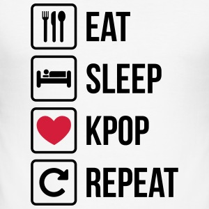 Eat Sleep Gjenta KPOP - Slim Fit T-skjorte for menn
