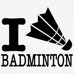 I love badminton / I love badminton - Men's Slim Fit T-Shirt