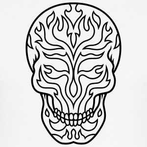 Flaming sugarskull - Männer Slim Fit T-Shirt