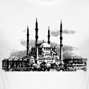 MOSQUE. MOSLEM MUSLIM ISLAM KORAN ALLAH MEKKA - Men's Slim Fit T-Shirt