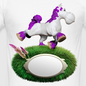 Pony violett - Männer Slim Fit T-Shirt