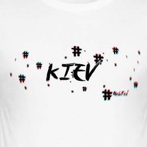 Kiev # 3D - Slim Fit T-skjorte for menn