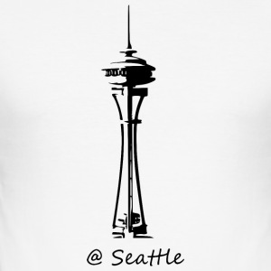 Seattle - Slim Fit T-skjorte for menn