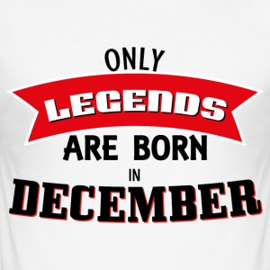 Legends Born in December - Männer Slim Fit T-Shirt