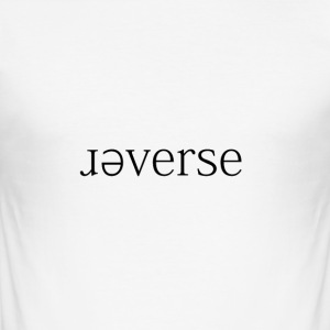 ɹǝverse - Herre Slim Fit T-Shirt