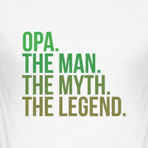 granny opa the man - Männer Slim Fit T-Shirt