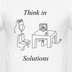 Tenk I Solutions Solutions Gaming Nerd Bursdag - Slim Fit T-skjorte for menn