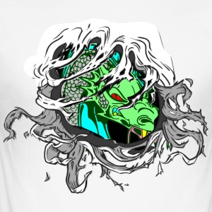 Drache Inside - Männer Slim Fit T-Shirt