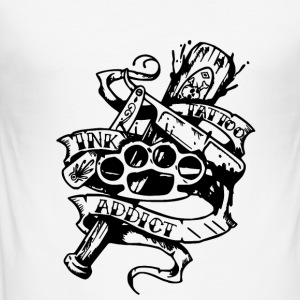 tattoo ink addict - Tee shirt près du corps Homme