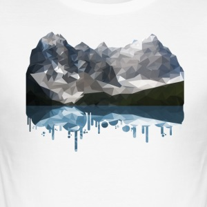 Mountains Low Poly - Men's Slim Fit T-Shirt