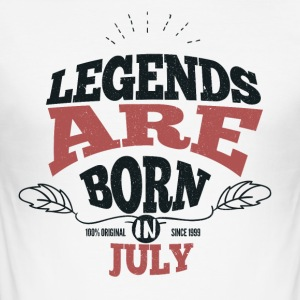 Legends are born in July birthday gift - Men's Slim Fit T-Shirt