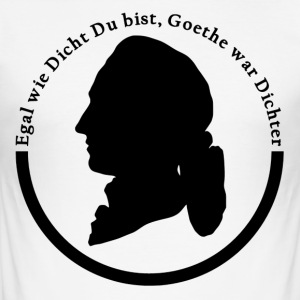 No matter how close you are Goethe was poet's logo - Men's Slim Fit T-Shirt