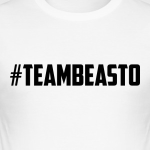 #TeamBeasto Svart bestselgere - Slim Fit T-skjorte for menn