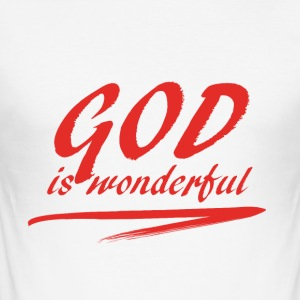 God_is_wonderful - Maglietta aderente da uomo