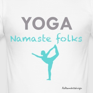 Namaste folks - Slim Fit T-shirt herr