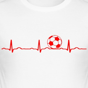 ECG HEARTBEAT voetbal rood - slim fit T-shirt