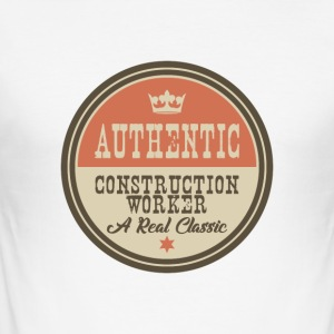 AUTHENTIC CONTSRUCTION WORKER - CONSTRUCTION WORKER - Men's Slim Fit T-Shirt