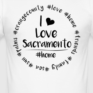 I love Sacramento - Orange County - Men's Slim Fit T-Shirt