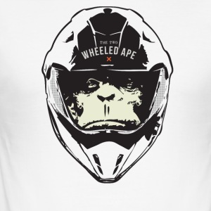 The Two hjul Ape Big Head Design - Slim Fit T-skjorte for menn