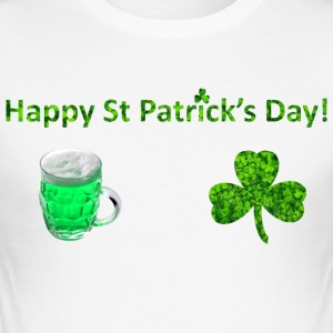 Happy St Patricks Day - Männer Slim Fit T-Shirt
