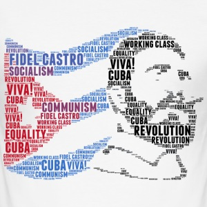 Fidel Castro flaggord sky - Slim Fit T-skjorte for menn