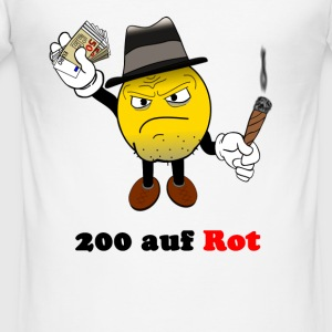 200 rød - Slim Fit T-skjorte for menn