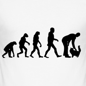 evolutie cat - slim fit T-shirt