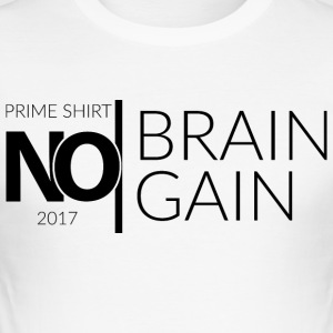 No Brain, No Gain - Collection 2017 - Noir - Tee shirt près du corps Homme
