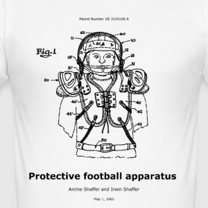 Protective football apparatus - Men's Slim Fit T-Shirt