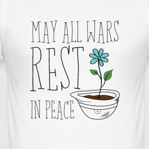 May All Wars Rest In Peace - Männer Slim Fit T-Shirt