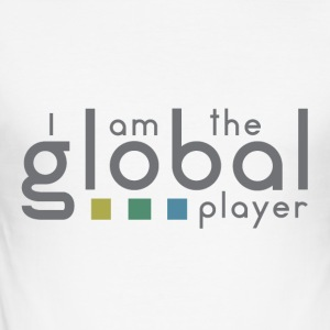 I am the global player - Männer Slim Fit T-Shirt