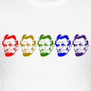 Abraham Lincoln - Slim Fit T-skjorte for menn