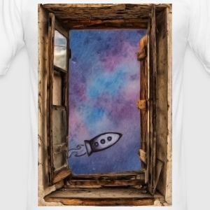 Vindue mod 'univers - Herre Slim Fit T-Shirt