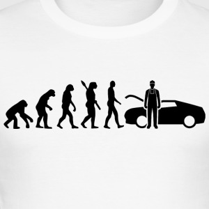 Evolution Mechanic Mechanic Black - Men's Slim Fit T-Shirt