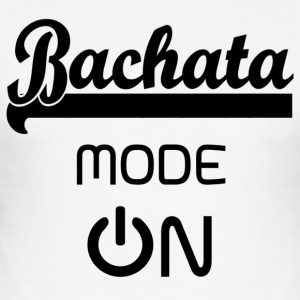 Bachata MODE ON black - Bachata Dance Shirt - Men's Slim Fit T-Shirt