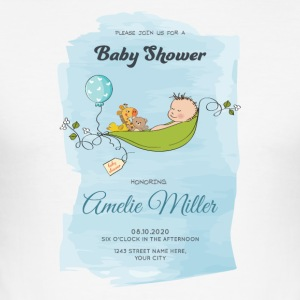 baby shower - Männer Slim Fit T-Shirt