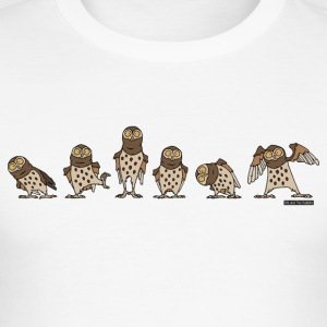 Owls - Brun - Slim Fit T-skjorte for menn