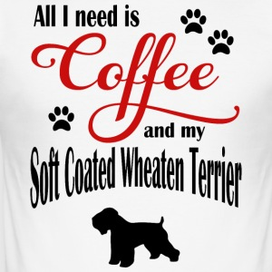 Soft Coated Wheaten Terrier Coffee - Men's Slim Fit T-Shirt