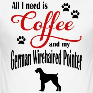 Duitse Wirehaired Coffee - slim fit T-shirt